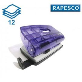 Průhledná Rapesco děrovačka 810-P proděruje až 12 listů papíru