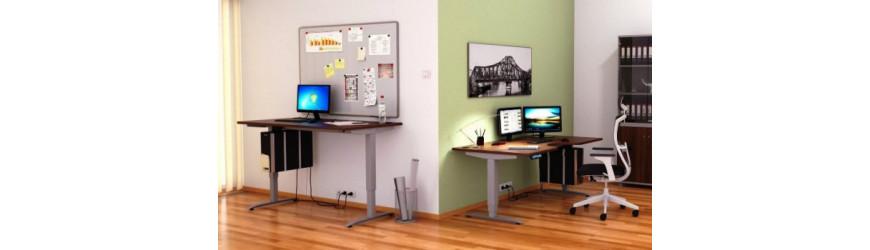 Výškově stavitelné stoly a stolové nástavby