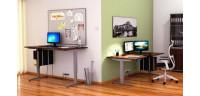 Výškově stavitelné stoly a stolové nástavby pro PC